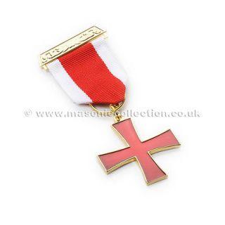 superb quality masonic knights templar breast jewel from united