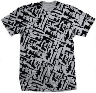 DTA ROGUE STATUS Gunshow 2.0 Silver/Black Mens Skateboard T Shirt