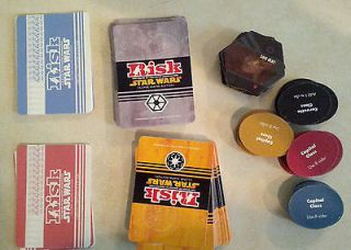 RISK Star Wars Clone Wars Edition   Cards & Tokens   Lot SWRC