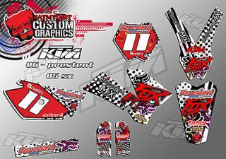 KTM SX 85 2005   2012 CUSTOM GRAPHICS KIT MX DECALS MOTOCROSS MX