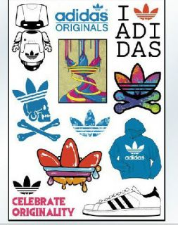 11 of adidas originals logo vinyl sticker decal rare from
