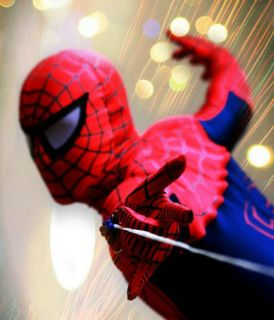 Super Ultimate Deluxe Spiderman Costume Rental Quality Adult (Ships