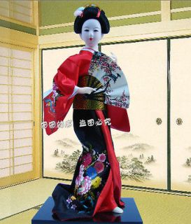 Oriental Embroidery Doll Japanese geisha dolls statue XH113