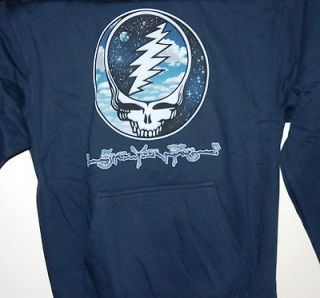 GRATEFUL DEAD STEAL YOUR SKY & SPACE PULLOVER HOODED SWEATSHIRT NEW