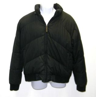 Mens 2XL Down Coat STEVE MADDEN Black Feathers Hood Puffer Jacket Coat
