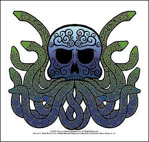 harmonix rock band snake logo sticker hrs free ship time
