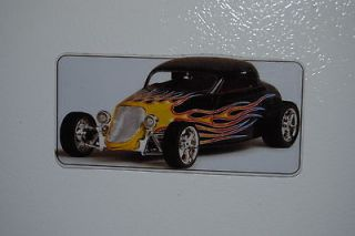 1933 Ford Coupe Hot Rod Refrigerator/Tool Box Magnet 5x2