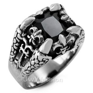 Newly listed Size 12 Men Silver Stainless Steel Dragon Claw Punk Rings