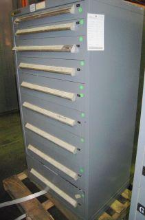 stanley vidmar 9 drawer tooling cabinet  1100