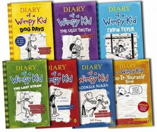 Wimpy Kid Collection 7 Books Set cabin fever, Ugly Truth, Last Straw