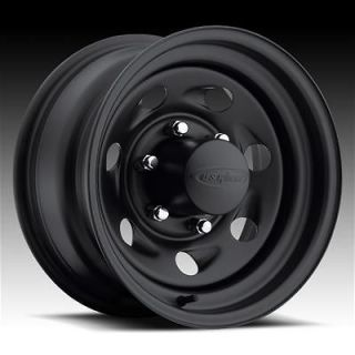 094 Series Stealth Vortec Black Steel Wheels 15x7 5x4.5 BC Set of 4