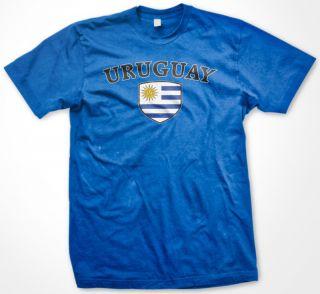 uruguay country flag shield men s t shirt uruguayan tee