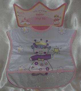 Girls Baby Bib *Baby Princess* Cutie Pie Baby Princess Bib W/Crumb