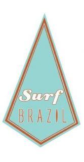 Surf Brazil 1960s Vintage Style Surfing Travel Sticker/Decal