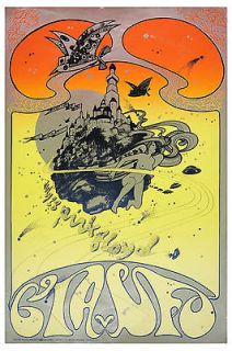 Syd Barrett & Pink Floyd * Psychedelic * Concert Poster Circa 1967