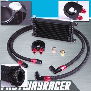 Universal 10 Rows Oil Cooler Kit M20XP1.5 3/4X16 UNF Oil Filter