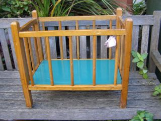 antique vintage wooden doll baby cot bed from australia time
