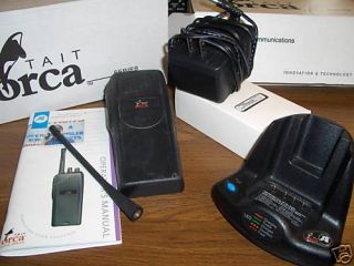 tait orca 5011 16 channel portable radio w charger uhf