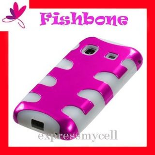 PINK FISHBONE Case Cover for Straight Talk SAMSUNG GALAXY PRECEDENT