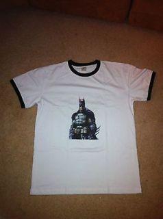 batman arkham asylum city large ringer shirt l