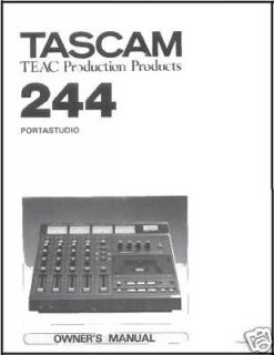 tascam 244 portastudio owners manual printed in folder  11