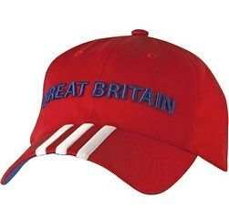 london 2012 adidas red great britain baseball cap from united