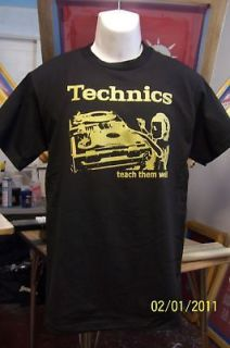 technics 1200 tshirt new dj shirt large all sizes time