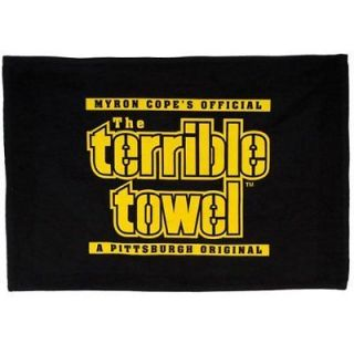 Black Terrible Towel Myron Cope Pittsburgh Steelers Football NFL