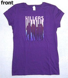 THE KILLERS BAND SILHOUETTE PURPLE BABY DOLL GIRLS T SHIRT LARGE NEW