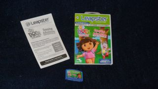 Leapfrog Leapster Nick Jr. Dora Camping Adventure cartridge game w