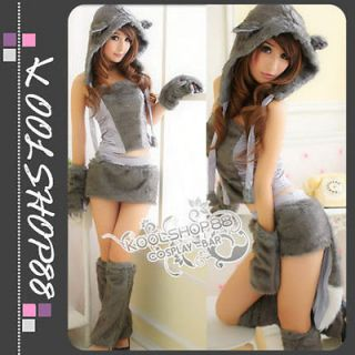 Animal Cosplay Kitty Furry Cat halloween costumes fancy dress Party
