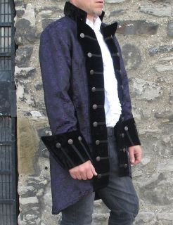 Pirate Vampire Gothic Military Jacket Coat Top Quality Theatrical