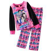 DIRECTION 1D PAJAMAS SIZE L 10/12 PINK & BLACK THINK VALENTINES DAY