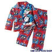 THOMAS THE TRAIN Toddler Boys 2T 3T 4T Flannel Pjs Set PAJAMAS Shirt