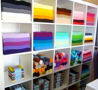 12 premium wool blend felt squares priced at £ 1