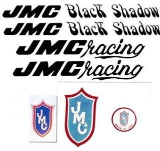 black jmc black shadow vinyl bmx decal set 1980 1982