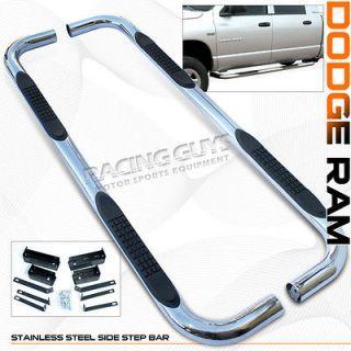 2002 2007 DODGE RAM 1500/2500 QUAD CAB SIDE STEP BAR BARS RUNNING