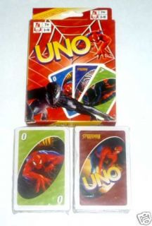 uno playing cards game spiderman 3 the movie sealed new