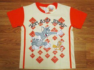Tom & Jerry Boy Cotton T Shirt #4106 21 Beige Size 14 age 12 14