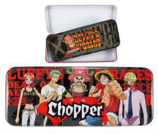 Astuccio scuola ONE PIECE Tin Case Luffy Rufy CHOPPER Pencil Box