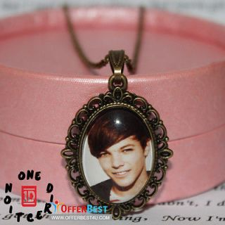 New 1D One direction Louis Tomlinson image Charm Epoxy Necklace Music