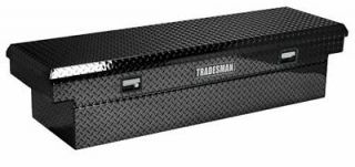 Tradesman 70 Cross Bed Truck Tool Box Black Alum Push Button