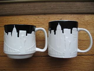 NEW STARBUCKS NEW YORK CITY RELIEF TAXI 2012 MUG BONE CHINA NEVER