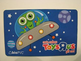 toys r us alien ufo gift card collectible no value