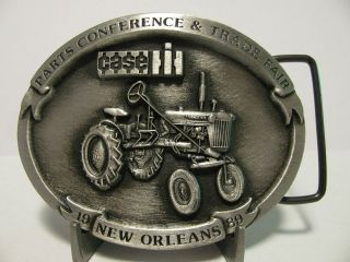 1989 Case IH New Orleans Parts Trade Fair Belt Buckle #1068 Farmall
