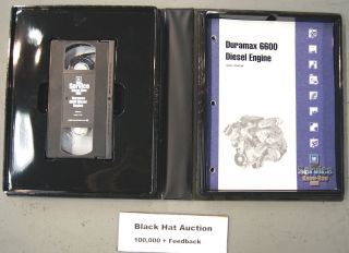 Truck Duramax 6600 Diesel Engine dealer tech Training Video & Book