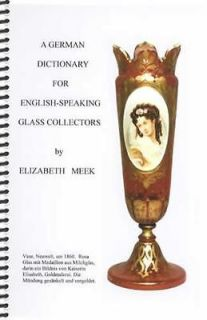 newly listed german english translation dictionary for antique glass