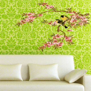 Beautiful FLOWER BRANCE TREE BIRD ART VINY Wall decor WALL Sticker