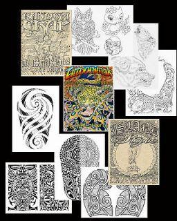 Tattoo Art Sketch Books Hawaii Island Tribal, Animals Flash Liner