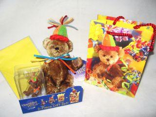 Boyds HeartFilled Hugs Birthday Teddy Bear Gift Set   NEW   FREE